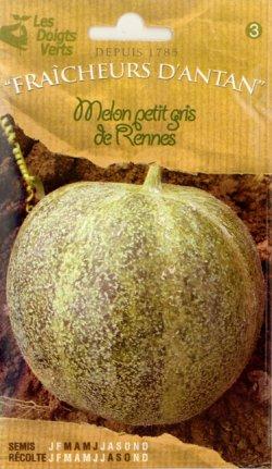 画像1: CATROS社-フランス野菜の種【フレンチメロン・Melon petit gns de Rennes】